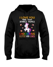 Unicorn Love You Hooded Sweatshirt thumbnail