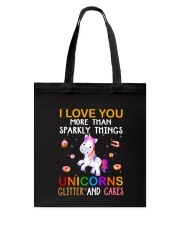 Unicorn Love You Tote Bag thumbnail