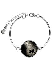 Bling light unicorn Metallic Circle Bracelet thumbnail