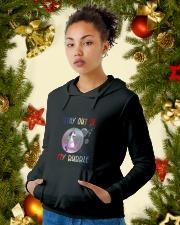 Unicorn Bubble 0410 Hooded Sweatshirt lifestyle-holiday-hoodie-front-4