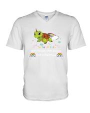 Turtle unicorn 1806P V-Neck T-Shirt thumbnail