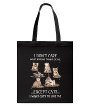 Cats To Like Me Tote Bag thumbnail