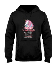 Unicorn To My Daughter 1810 Hooded Sweatshirt front