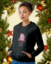 Unicorn To My Daughter 1810 Hooded Sweatshirt lifestyle-holiday-hoodie-front-4