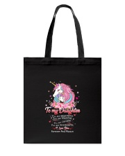 Unicorn To My Daughter 1810 Tote Bag thumbnail