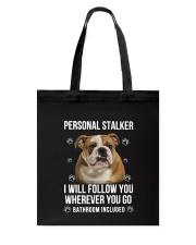 Bulldog Stalker  Tote Bag thumbnail