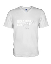 Mom in the park 2006P V-Neck T-Shirt thumbnail
