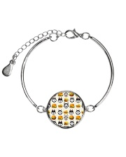 Alaskan Malamute hamburger 1406L Metallic Circle Bracelet tile