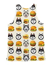 Alaskan Malamute hamburger 1406L All-over Unisex Tank back