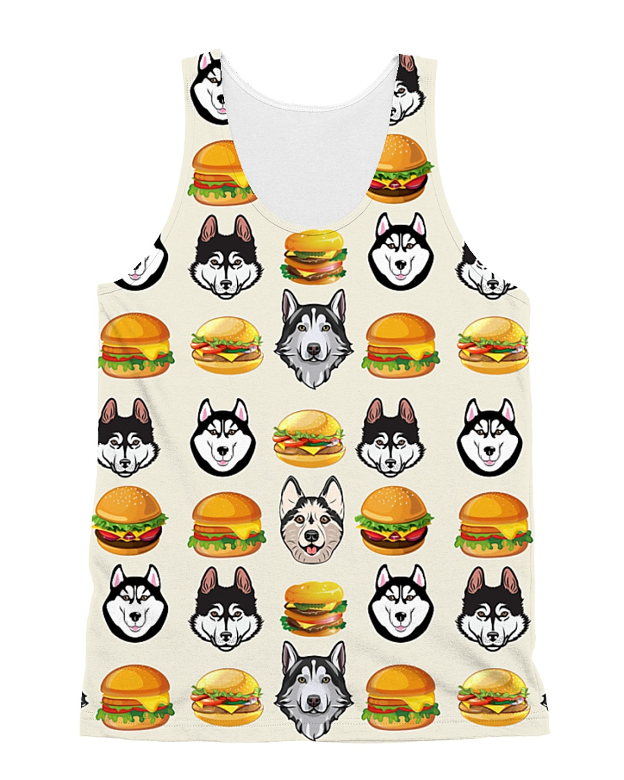 Alaskan Malamute hamburger 1406L All-over Unisex Tank