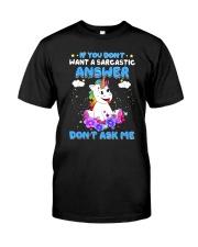 Apollo Unicorn Dont Ask Me Classic T-Shirt front