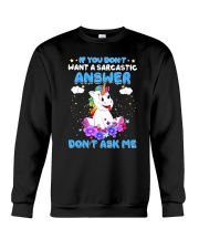 Apollo Unicorn Dont Ask Me Crewneck Sweatshirt thumbnail