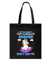 Apollo Unicorn Dont Ask Me Tote Bag thumbnail