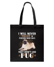 Pug Trust 2106 Tote Bag thumbnail