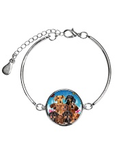 Dachshund Family  Metallic Circle Bracelet thumbnail