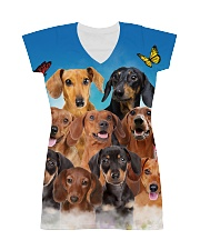 Dachshund Family  All-over Dress thumbnail