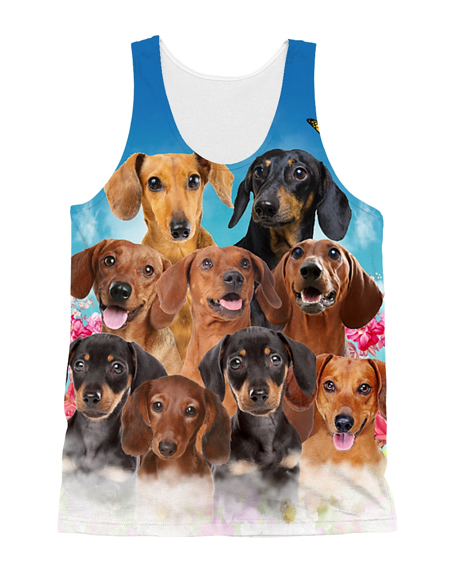 Dachshund Family  All-over Unisex Tank