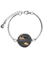 Afghan Hound Striped Metallic Circle Bracelet thumbnail