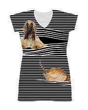 Afghan Hound Striped All-over Dress thumbnail
