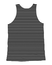 Afghan Hound Striped All-over Unisex Tank back