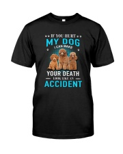 Poodle Accident Classic T-Shirt front