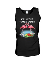 Flamingo Calm Flock Down  Unisex Tank thumbnail