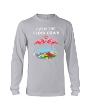 Flamingo Calm Flock Down  Long Sleeve Tee tile
