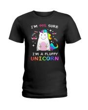 Unicorn fluffy 1009 Ladies T-Shirt thumbnail