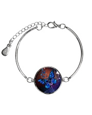 Butterfly mixes skull  1007 Metallic Circle Bracelet tile