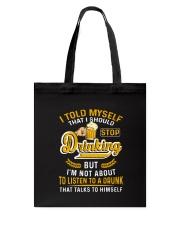 Beer Stop Drinking Tote Bag thumbnail