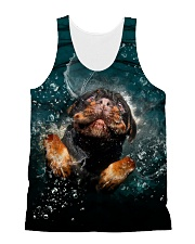 Rottweiler Underwater 1406 All-over Unisex Tank front