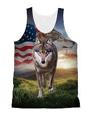 Wolf for USA 1606 All-over Unisex Tank front