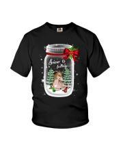 Unicorn Snow Is Falling Youth T-Shirt thumbnail