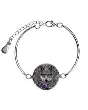 Wolf Purple Flowers 1406 Metallic Circle Bracelet thumbnail