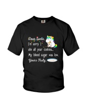 Unicorn Dear santa 1710 Youth T-Shirt thumbnail