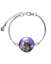 Maine cooncorn in the galaxy 2006D Metallic Circle Bracelet tile