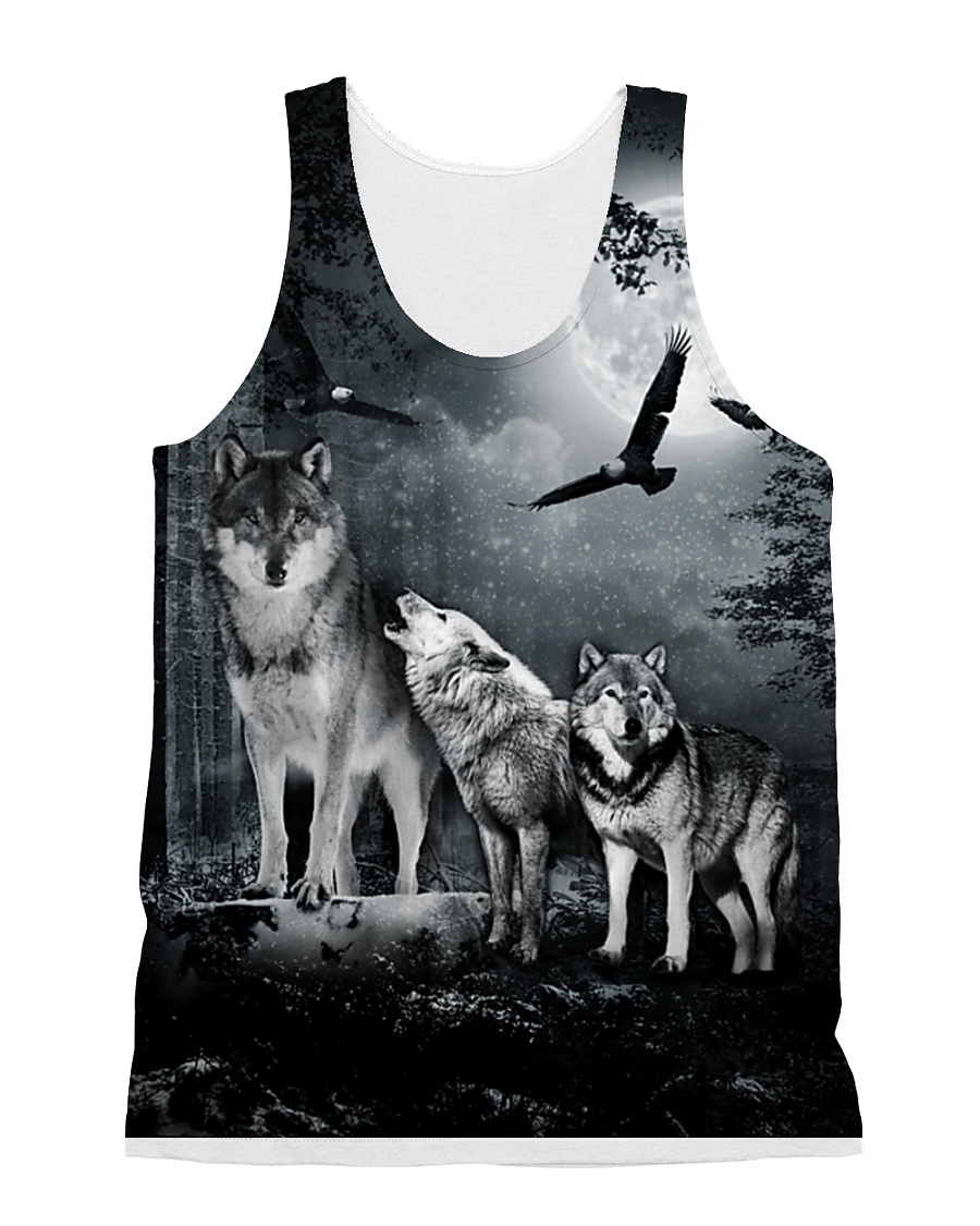 Cool Wolf Full All-over Unisex Tank