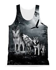 Cool Wolf Full All-over Unisex Tank thumbnail