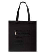 Shih Tzu And My Husband Tote Bag thumbnail