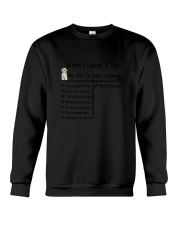 Shih Tzu And My Husband Crewneck Sweatshirt thumbnail