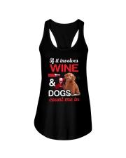Poodle Wine Ladies Flowy Tank thumbnail