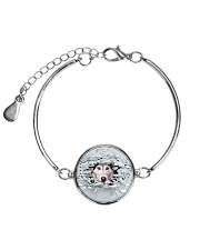 Siberian Husky Broken 1606 Metallic Circle Bracelet tile