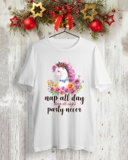 Unicorn Party Never Classic T-Shirt lifestyle-holiday-crewneck-front-2
