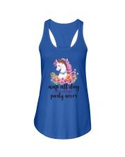Unicorn Party Never Ladies Flowy Tank thumbnail