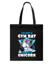 Gym Unicorn Tote Bag thumbnail
