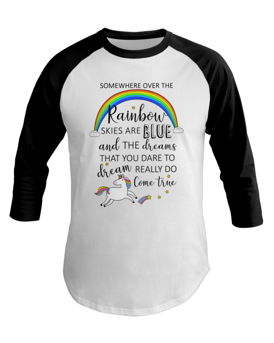 Unicorn Rainbow 1412 Baseball Tee