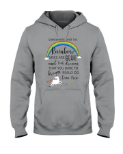Unicorn Rainbow 1412 Hooded Sweatshirt thumbnail