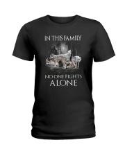 Wolf Family Ladies T-Shirt thumbnail