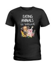 Vegan animal Ladies T-Shirt thumbnail