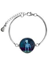 Dogo Argentino in the magic world 1806D Metallic Circle Bracelet thumbnail